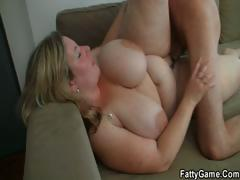 He easily seduces fat chick