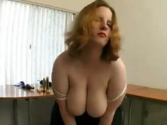 BBW down big boobs playing..