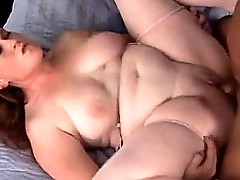 Fat milf rides grown-up cock