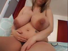 Pregnant blonde with huge..