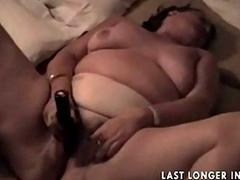 Bbw granny rubbing moneyed..