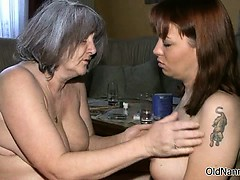 Nasty old woman gets horny..